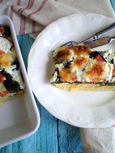 Spenótos-mozzarellás sült polenta recept