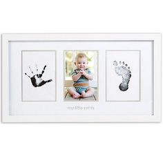 NEW Pearhead No-Mess Baby Hand And Foot Prints With Photograph Picture Frame - http://baby.goshoppins.com/announcements-keepsakes/new-pearhead-no-mess-baby-hand-and-foot-prints-with-photograph-picture-frame/