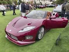 Spyker brought the B6 Venator Spyder Concept to show off. An all carbon fiber body on an aluminum chassis, the aviation-inspired compact convertible sports car has a cock-pit like, leather covered interior and powered by a V-6 mid-engine. Production is slated to begin in late 2014.