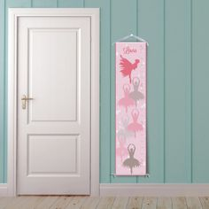 Ballerinas Pink Personalized Growth Chart by BirdRowPrints on Etsy, $39.99