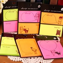 3pcs/Lot Korean Creative Cute N Times stickers Sticky Notes And Memo Pads Post It Note,100 Color Neon Paper Stick Marker(China (Mainland))