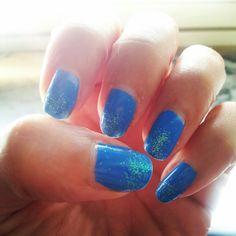 My nails..by Patrice...#artemoda#creation#fashion#nails#nailsart#designer#xolours#blue#stars#nagellack#vernis#makeup#moda#