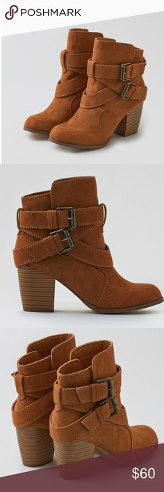AEO Buckle Heeled Boot New in box. American Eagle Buckle heeled boot. Stylish and trendy. True to size. American Eagle Outfitters Shoes Heeled Boots