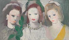 MARIE LAURENCIN | PORTRAIT DE TROIS JEUNES FEMMES | Impressionist & Modern Art Day Sale2020 | Sotheby's Impressionist Art, Online Images, Art Day, Female Art, Oil On Canvas, Marie, Modern Art, Artwork, Museum