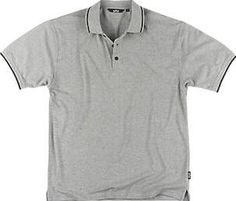 Site Pepper Polo Shirt Grey X Large 46-48`` Grey. Breathable fabric. 210g/m². Knitted sleeve cuffs and vented hem. Excellent colour retention. Contrast colour-tipped collar and buttons. http://www.comparestoreprices.co.uk/january-2017-9/site-pepper-polo-shirt-grey-x-large-46-48.asp
