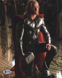 Chris Hemsworth Thor Endgame The Avengers Signed 8x10 Photo Certified Authentic Beckett BAS COA