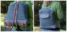Bag of the Month Club: The Highline Tote - Betz White Tote Backpack, Backpack Straps, Tote Bag, Pdf Sewing Patterns, Sewing Tutorials, Quilting Patterns, Bag Tutorials, Back To School Bags, Tote Tutorial