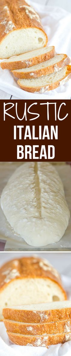 Rustic Italian bread | Brown-Eyed Baker | this takes some time to come together, but the hard crust and chewy bread are 100% worth it. Totally necessary with a bowl of pasta or a hearty soup!