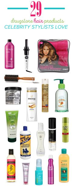 Having fabulous hair is actually affordable thanks to these drugstore hair product recommendations by celebrity stylists. Whether you have curly or straight, long or short hair, there's a product for you that really works on this list.