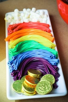 Licorice rainbow at a St. Patrick's Day Party #stpatricksday #party