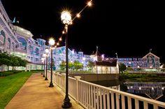 Disneys Beach Club Villas at Night by Tom.Bricker, via Flickr