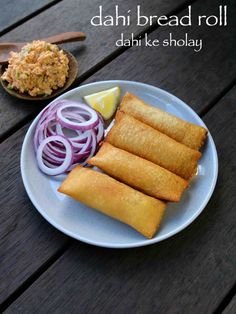 dahi ke sholay recipe, dahi bread roll, bread curd fire roll, dahi ke sholey with step by step photo/video. perfect evening snack with your left over bread. Pakora Recipes, Paneer Recipes, Breakfast Recipes, Snack Recipes, Cooking Recipes, Yummy Snacks, Appetizer Recipes, Healthy Snacks, Hot Snacks
