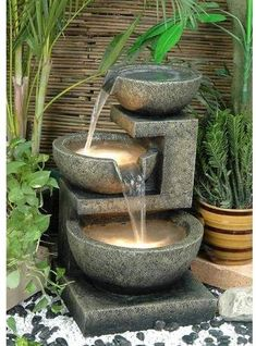 The Alfresco Home Resin and Ceramic Fountains answer all your needs for exciting stylish water features in the garden or in the home. As practical as they are beautiful the Alfresco Lite Fountains . Garden Water Fountains, Indoor Fountain, Fountain Ideas, Water Gardens, Fountain Garden, Fountain House, Small Fountains, Front Yard Fountains, Landscape Fountains