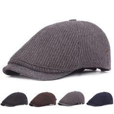 Boina a rayas retra ajustable de algodón para hombres 5a26191f930