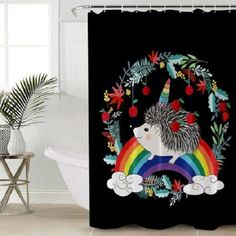 Lileihao Green Bamboo Shower Curtains Spring Plant Flower Butterfly Scenery Bathroom Decor Polyester Fabric Home Bath Bathtub Cloth Hanging Curtain Sets Machine Washable 70 x 70 Inch with Hooks