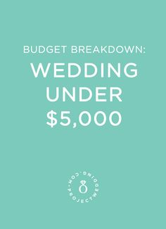 Read how a real couple had a beautiful $5,000 wedding!