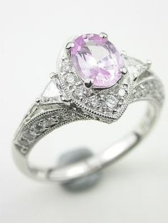 drool worthy ... Romantic Pink Sapphire Engagement Ring