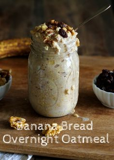 Perfection is this banana bread overnight oatmeal. It looks like a dessert, tastes like a dessert and is a perfectly acceptable way to start the day. Bonus: the majority of your work is already done when you get up. @theroastedroot