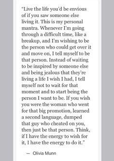 Inspiring Olivia Munn quote.