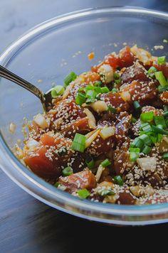 Spicy Ahi Tuna Poke // soletshangout.com