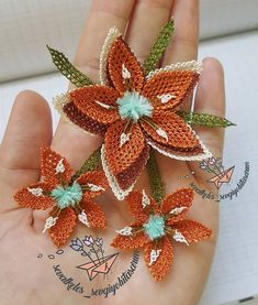 Needle Lace, Knots, Projects To Try, Embroidery, Sewing, Crochet, Fabric, Flowers, Jewelry