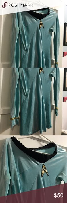 Star Trek Science Officer Cosplay Dress HANDMADE for accuracy. Short dress like in original show. This was handmade for me but need closet space. Perfect cosplay! Dresses Mini