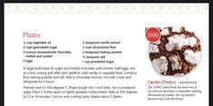Unsweetened Chocolate, Large Bowl, Powdered Sugar, Melting Chocolate, Pixie, Vanilla, Cookies, Baking, Book