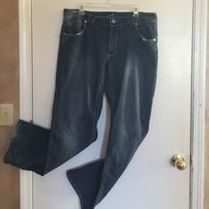 Size 18 low rise denim jeans Angels lowrise faded blue jeans... Every girl needs as a basic for her wardrobe! Angel Jeans Boot Cut