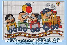 Trem Gráficos Ponto Cruz.