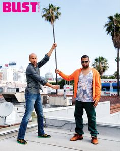 Key and Peele goofing off in BUST Magazine's Aug/Sept 2013 issue.