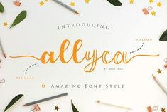 Allyca - Font Family by Mas Anis on @creativemarket #font #typography