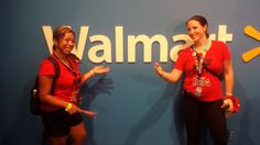 Leigh-Ann and Amanda in the Walmart Home Office green room. Supposed to look like we're having an important meeting.. looks more like Vana white! :) [2014]