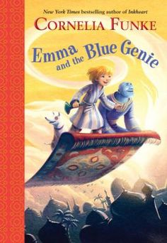 """Originally published as Emma und der Blaue Dschinn by Cecilie Dressler Verlag GmbH & Co. KG, Hamburg, Germany, in 2002""	Eight--year-old Emma and her little dog Tristan take a magic carpet ride to the distant land of Barakash to help a genie recover his stolen magical nose ring."
