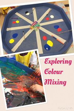 The children loved colour mixing today! It ended very messy! Colour Activities For Toddlers, Autumn Eyfs Activities, Mouse Paint Activities, Tuff Tray Ideas Toddlers, Monster Activities, Nursery Activities, Preschool Colors, Painting Activities, Preschool Activities