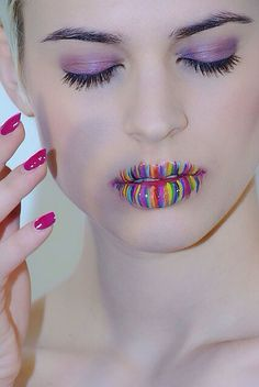 Artistic makeup wouldn't do it...but it's pretty cool