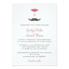 A trendy, humorous take on the traditional wedding invitation. Perfect for the couple planning a fun, lighthearted wedding. $2.01 per card