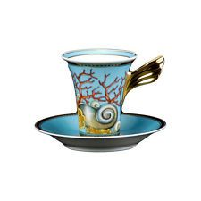 """VERSACE BY ROSENTHAL, GERMANY  """"LES TRESORS DE LA MER"""" EXPRESSO CUP AND SAUCER."""