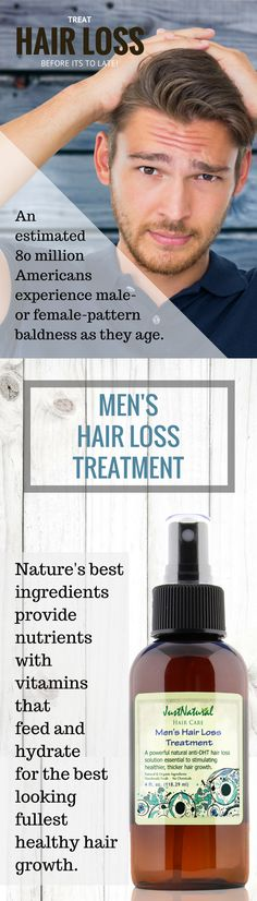 Formulated for men, this treatment will assist you in regaining thick, healthy growing hair that looks great.