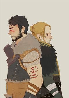 Anders and Hawke http://knight-enchanter.tumblr.com/
