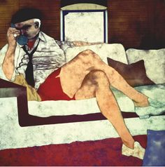 """Secret Jew"" by R.B. Kitaj, 1976.  Kitaj was a huge influence when I studied painting in art school. This is a painting from the 70's that I never knew existed. God bless the internets."