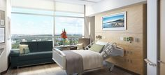 Most of a patient's time is spent in the comfort of their room. That is why we have reinvented our rooms to promote healing and rest for our patients, and greater efficiency for caregivers.