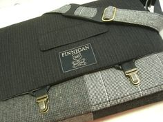 Messenger Bag, Macbook 15 inch Messenger Bag Macbook Pro 15 , Laptop Sleeve,  black burgundy plaid wool Recycled Suit Coat