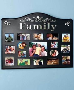 FAMILY 17-OPENING COLLAGE PHOTO PICTURE FRAME WALL ART LIVING ROOM HOME DECOR #Unbranded