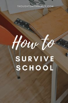 School can be tiring and you may just want to give up. Don't give up, read this blog post and learn how to survive school!