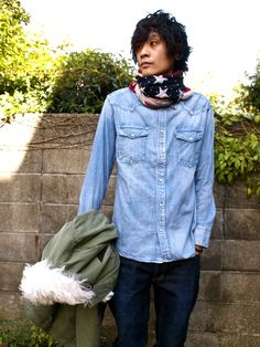 VISVIM FALL AND WINTER 2012 STYLE PHOTO [DECKHAND JACKET OLIVE]   SQUARE ONE