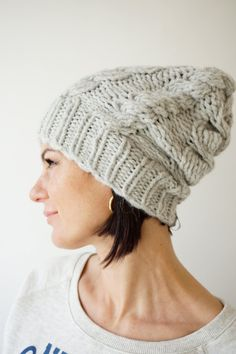 Cable Knit Alpaca and Merino Hat / Soft Wool Cable by Imunde