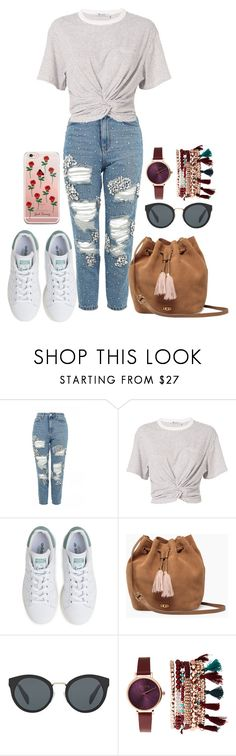"""119"" by wieszthanna ❤ liked on Polyvore featuring Topshop, T By Alexander Wang, adidas, UGG, Prada and Jessica Carlyle"