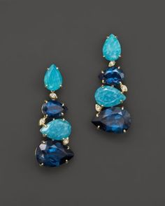 VIANNA BRASIL 18K Yellow Gold Earrings with Amazonite, London Blue Topaz and Diamond Accents | Bloomingdale's
