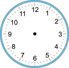 Handwriting for Kids - Math - Time - Craft Clock - Make Your Own Clock Math Clock, Clock Craft, Blank Clock, Clock Face Printable, Clock Template, Paper Clock, Clock For Kids, Kids Clocks, Classic Clocks