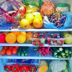 kaylaitsines:  This is what your fridge should look like ☀️☀️ How could you possible eat junk when your fridge is this perfect  www.kaylaitsines.com.au/guides ✅